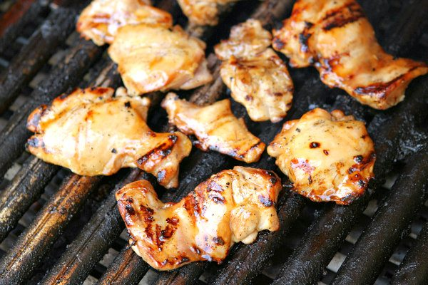 Plum Glazed Grilled Chicken Thighs recipe