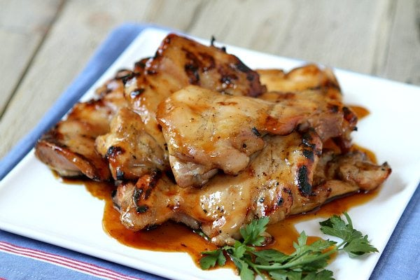 Plum glazed grilled chicken thighs recipe girl plum glazed grilled chicken thighs forumfinder Choice Image