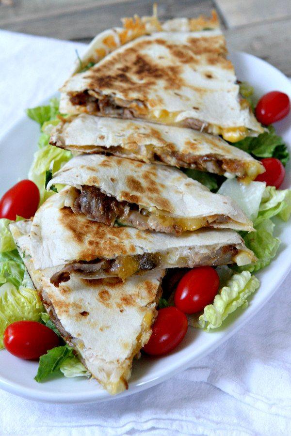Pork Rib and Corn Quesadillas Recipe - RecipeGirl.com