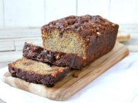 Snickers Bar Banana Bread