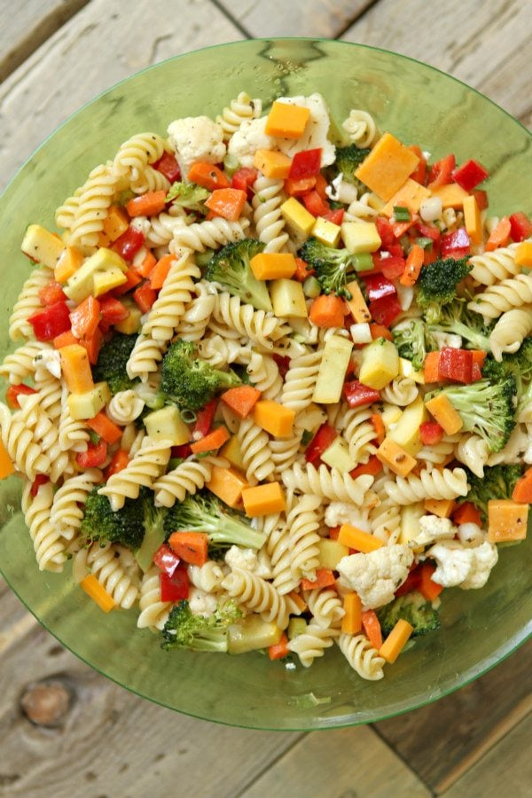 Summer Vegetable Pasta Salad Recipe - RecipeGirl.com