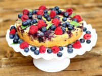 Upside Down Berry Cornmeal Coffee Cake
