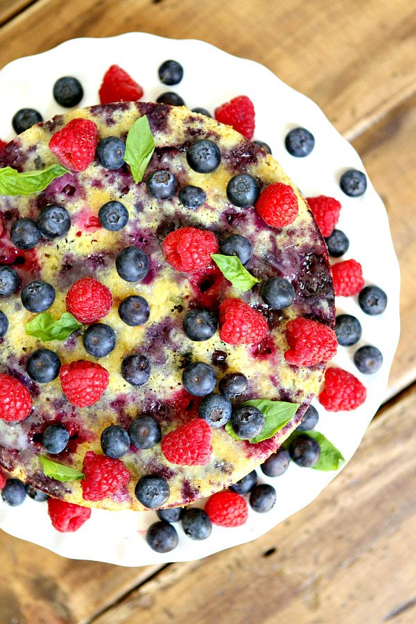Upside Down Berry Cornmeal Coffee Cake Recipe
