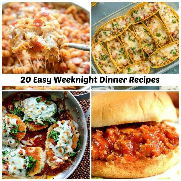 20 Easy Weeknight Dinner Recipes