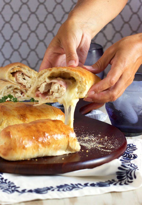 Easy Chicken Cordon Bleu Calzone recipe is perfect for quick, easy weeknight dinners.