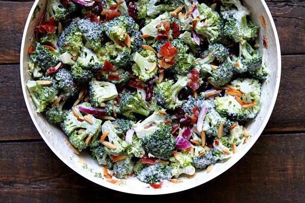Cranberry Almond Broccoli Salad