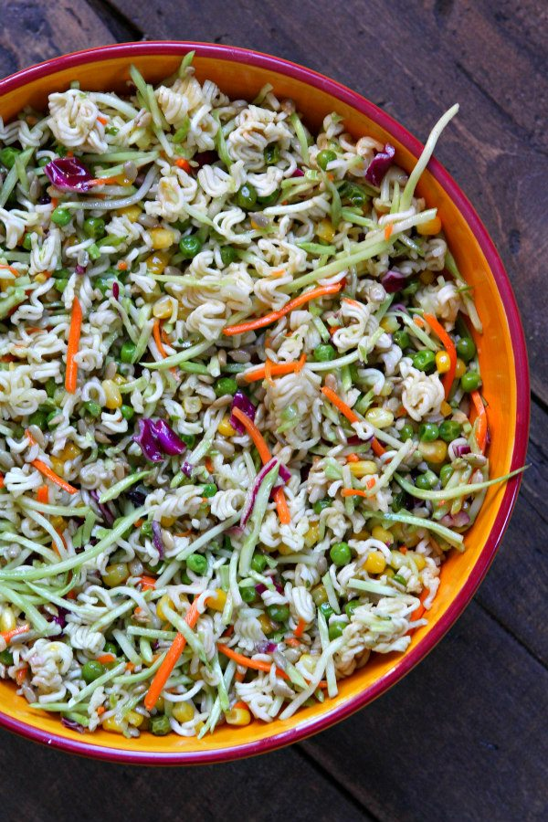 Easy Ramen Salad - from RecipeGirl.com