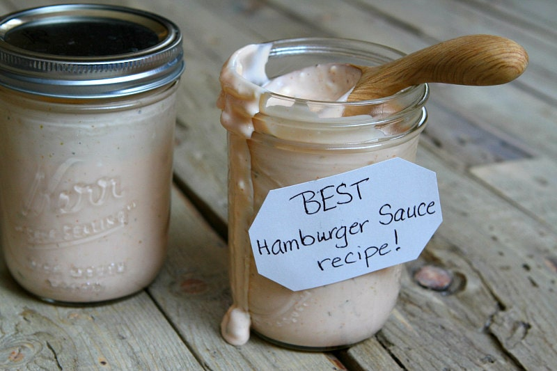 Jar of Best Burger Sauce Recipe