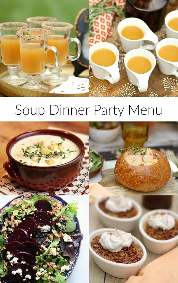 soup dinner party menu recipe girl