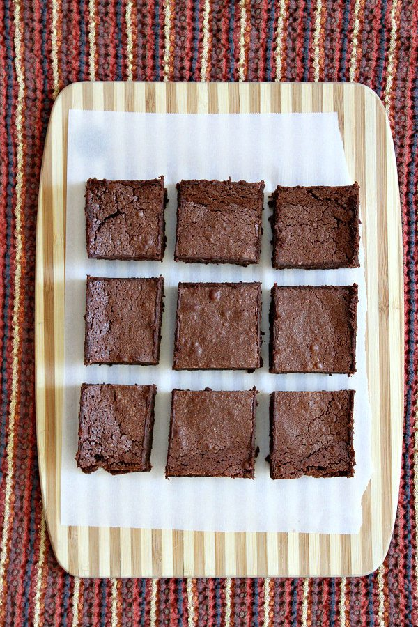 Easy Fudgy Flourless Brownies Recipe - from RecipeGirl.com