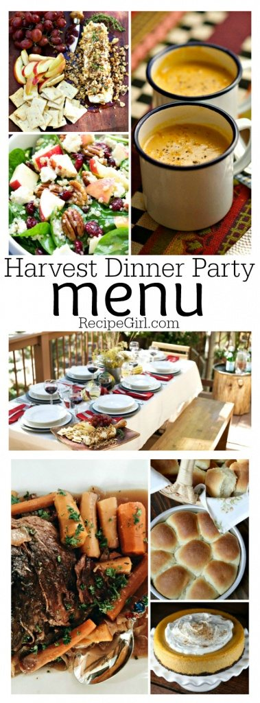 Harvest Dinner Party Menu