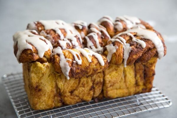 Pumpkin Pull Apart Bread recipe - from RecipeGirl.com