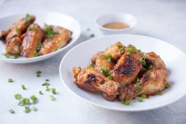 Baked Honey Mustard Chicken Wings recipe - from RecipeGirl.com