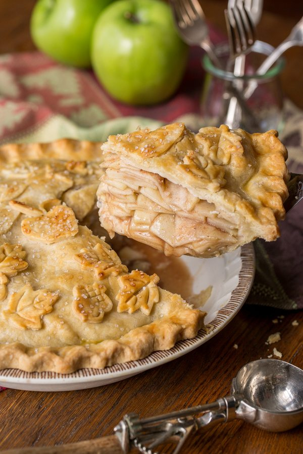 Classic Double Crust Apple Pie - tart, juicy apples are wrapped in a ...