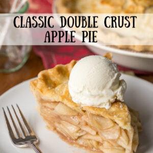 pinterest image for classic double crust apple pie