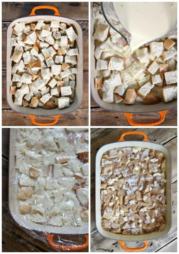 How do you Make French Toast Casserole? This photo shows you the step by step process.
