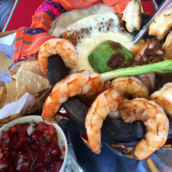 Shrimp Molcajete in Mazatlan, Mexico at Restaurante Mr. Lionso