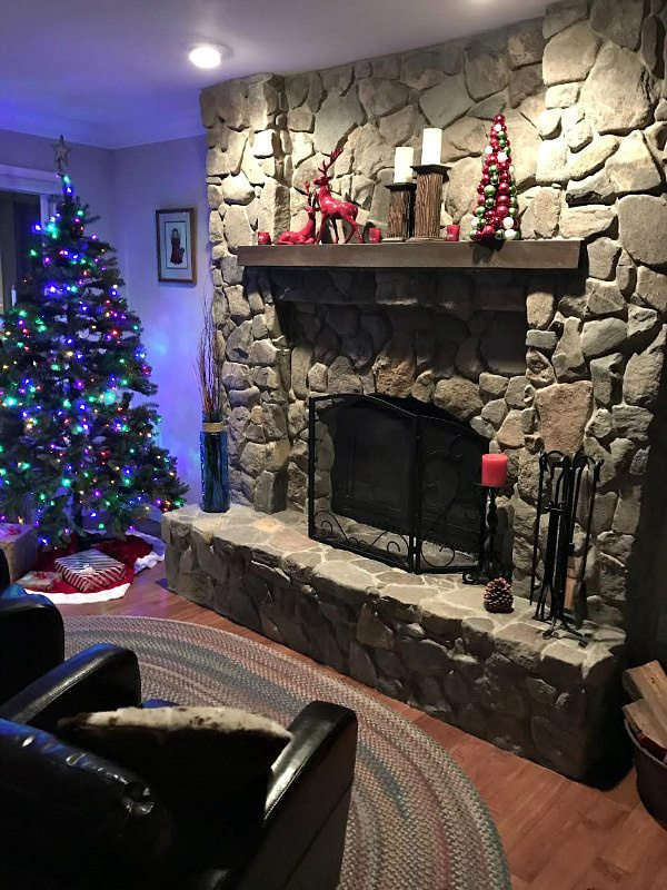 Fireplace Remodel at a home in the mountains of Lake Tahoe - by RecipeGirl.com