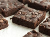 These Healthier Fudge Brownies are low fat, low sugar, and whole grain but you would never know! They are rich and chocolatey and make the perfect healthy treat!