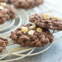 These Double Chocolate Oatmeal Cookies are packed with chocolate and chewy oats -- they make the perfect snack or easy treat and freeze beautifully!