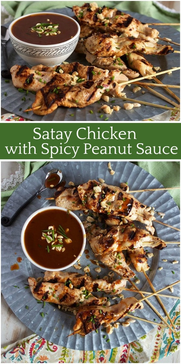 Satay Chicken with Spicy Peanut Sauce