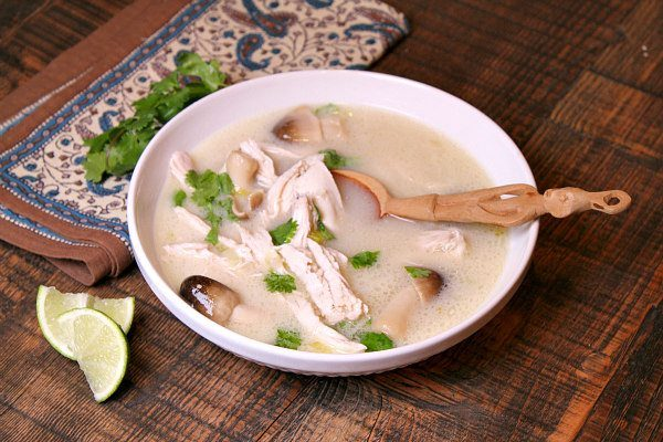 Thai Coconut Chicken Soup recipe - by RecipeGirl.com : Whole 30 compliant recipe, gluten free recipe. Whole30