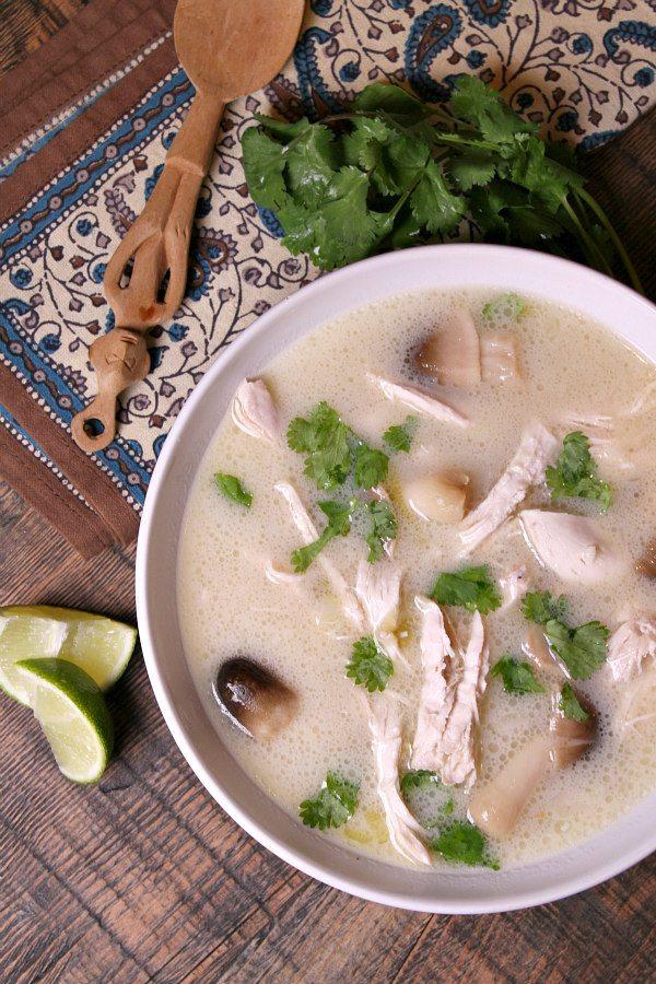 Thai Coconut Chicken Soup recipe - by RecipeGirl.com : Whole 30 compliant recipe, gluten free recipe. Whole30