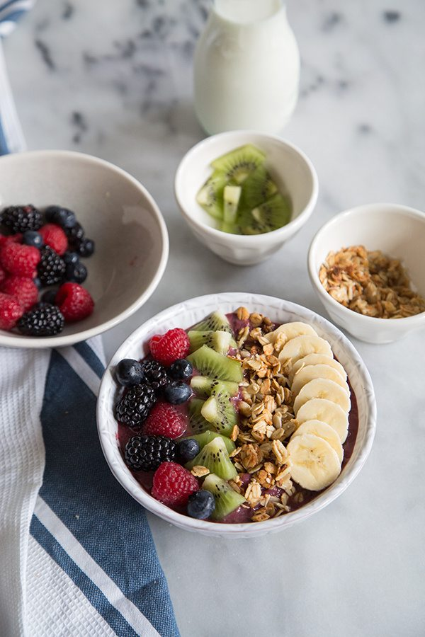 Easy Acai Berry Bowl recipe - from RecipeGirl.com