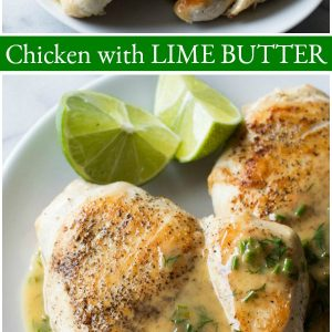 pinterest collage image for chicken with lime butter