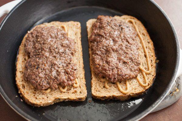 Bacon Swiss Patty Melts - recipe from RecipeGirl.com