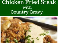 pinterest collage image for chicken fried steak
