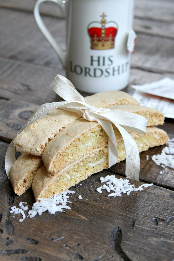 Easy Coconut Biscotti recipe - from RecipeGirl.com
