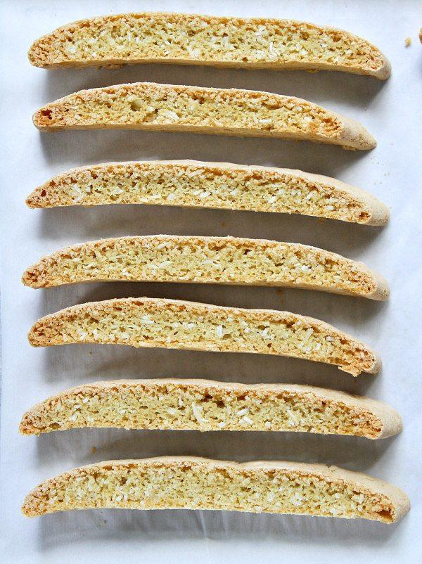 Easy Coconut Biscotti recipe - from RecipeGirl.com