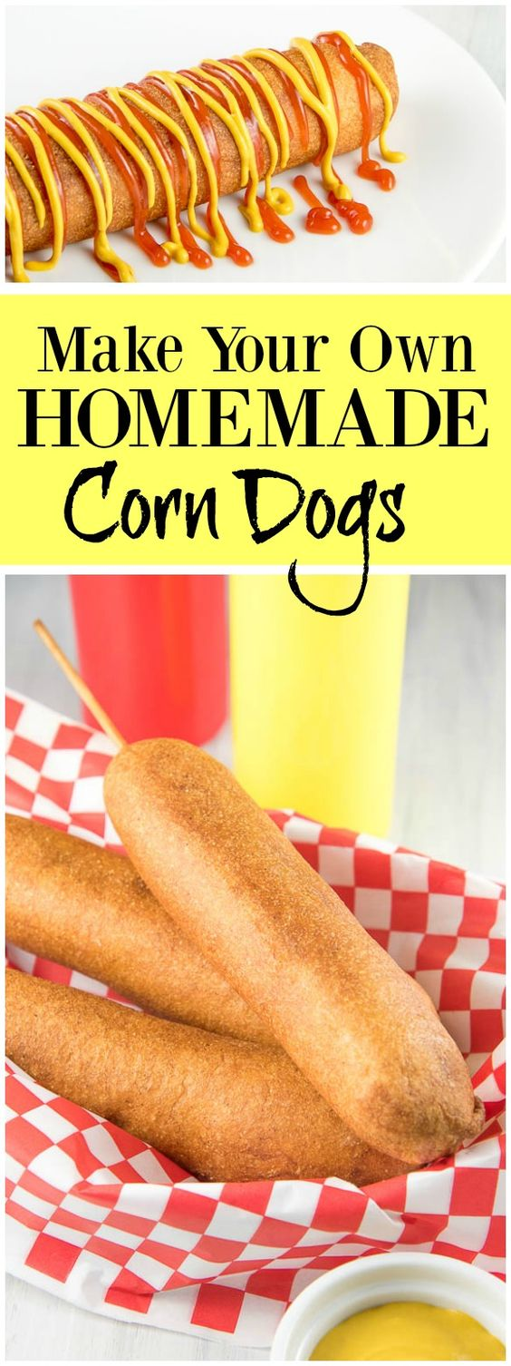 pinterest collage image for corn dogs
