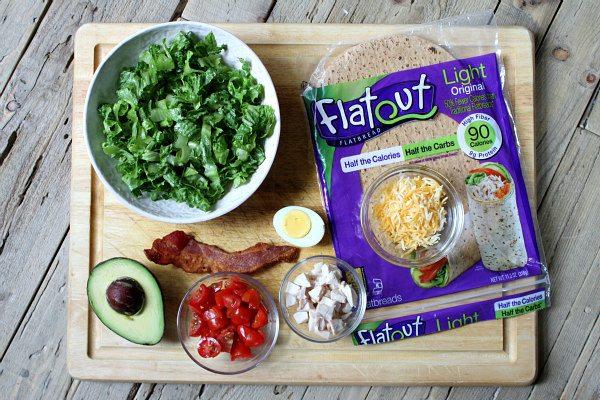 Ingredients needed for Quesadilla Cobb Salad