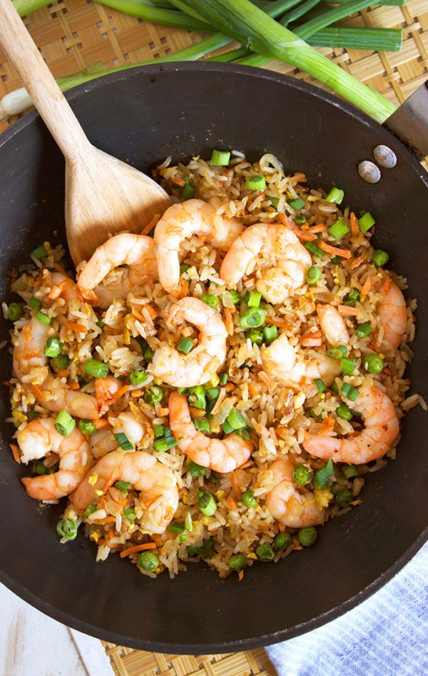 Easy shrimp fried rice recipe recipe girl shrimp fried rice recipe from recipegirl this easy ccuart Image collections