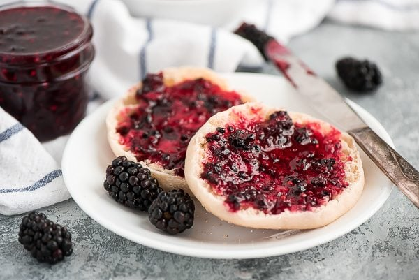 Easy Blackberry Freezer Jam recipe - from RecipeGirl.com