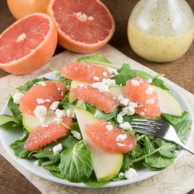 Grapefruit Salad with Champagne Viniagrette - from RecipeGirl