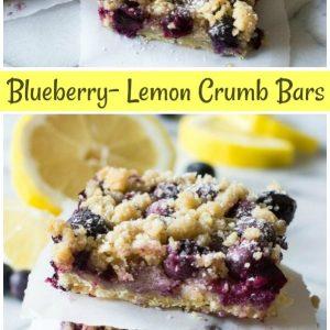 pinterest collage image for blueberry lemon crumb bars