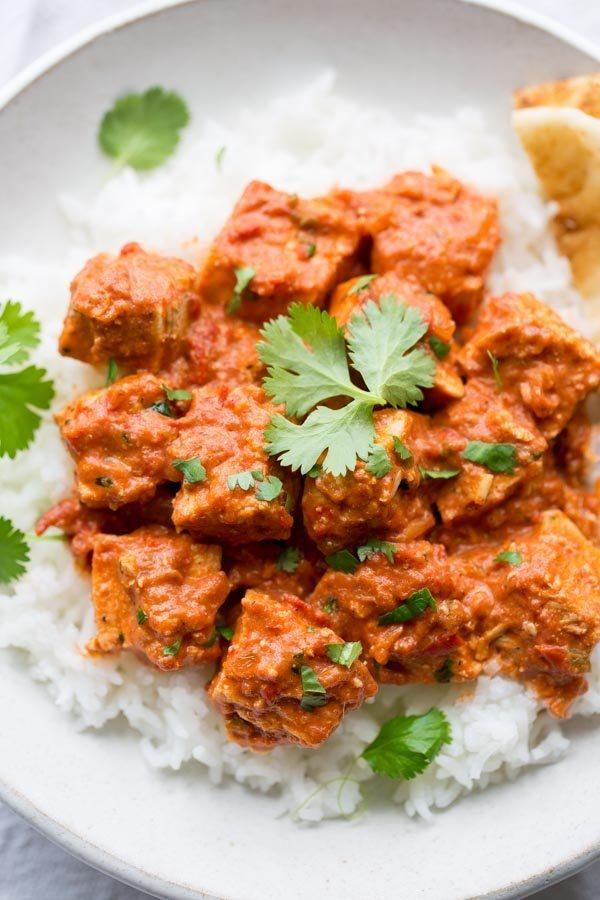 Easy Chicken Tikka Masala - recipe from RecipeGirl.com