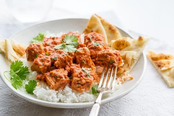 Easy Chicken Tikka Masala - recipe from RecipeGirl.com
