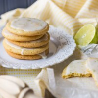 Iced Lemon Lime Cookies by @bakingamoment