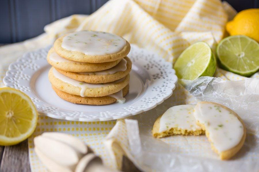 Iced Lemon Lime Cookies - Recipe Girl
