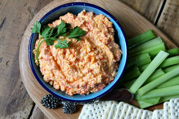 Southern Pimento Cheese spread - recipe from RecipeGirl.com