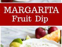 pinterest collage for margarita fruit dip