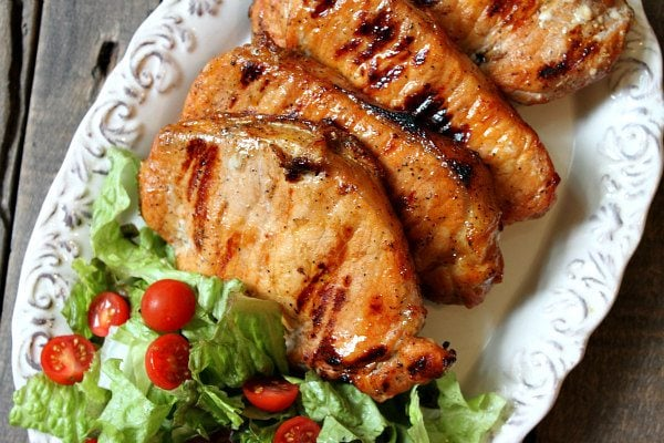 Apple And Blue Cheese Stuffed Grilled Pork Chops Recipe Girl