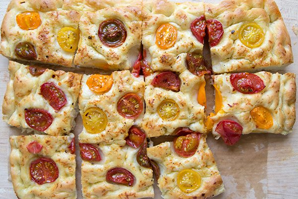 Tomato Focaccia Bread - recipe from RecipeGirl.com