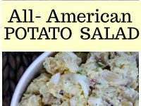 pinterest collage image for all american potato salad