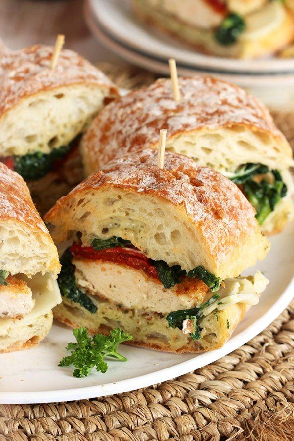 Italian Chicken Cutlet Sandwiches recipe by RecipeGirl.com