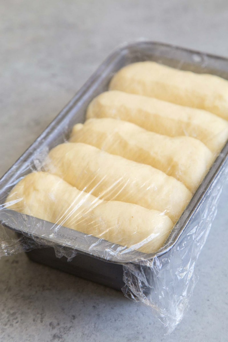 Brioche dough rising